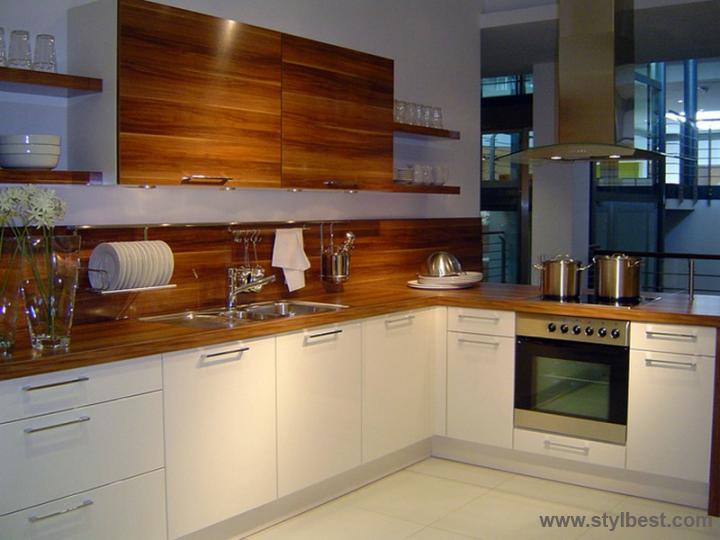 Белые кухни шпон