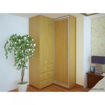 Угловой Шкаф-купе FLASHNIKA Эконом №34 (дверь ДСП)