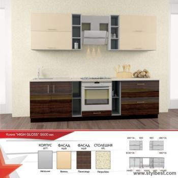 Кухня HIGH GLOSS 5