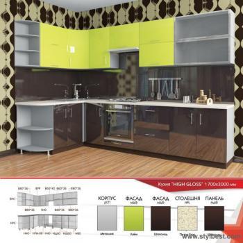 Кухня HIGH GLOSS 12