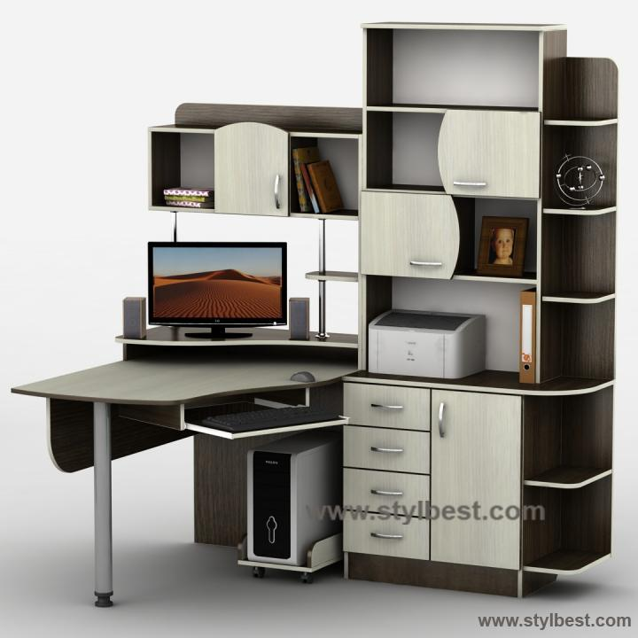 Стол компьютерный Тиса Мебель Тиса-8 (ЭКС)