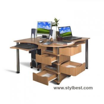 Комп'ютерний стіл для двох Тиса Меблі Эксклюзив - 4