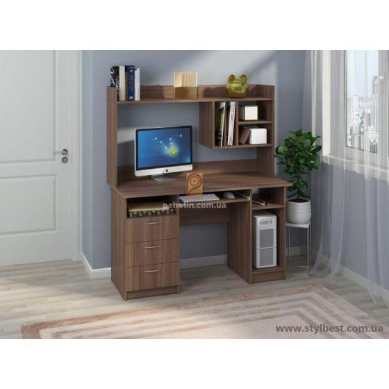 Комп'ютерний стіл Оскар з надбудовою