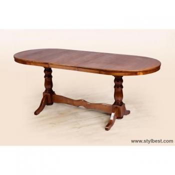Стол обеденный Атаман ( 160) темный орех