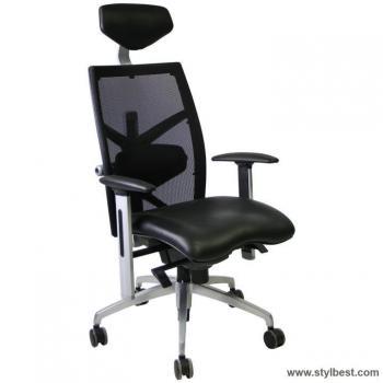 Офисное кресло Exact black , leather / mesh