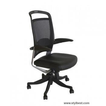 Кресло офисное FULKRUM, Black, Mesh/ Leather