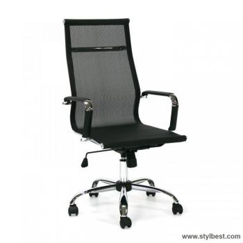 Кресло офисное ULTRA- 2, Textiline, Black / crome