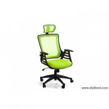 Кресло офисное MERANO headrest,Green