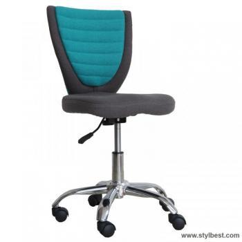 Детское компьютерное кресло POPPY,серо голубое