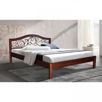 Ліжко МіксМеблі Ілона (вільха, каштан)
