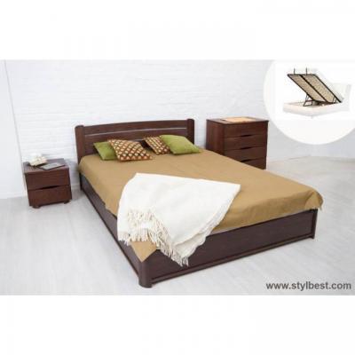Ліжко МіксМеблі Софія (бук, на під'ємній рамі)