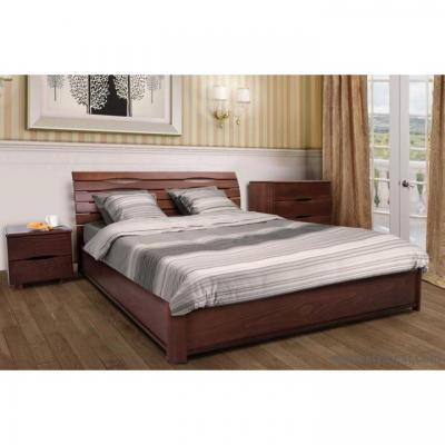 Ліжко з під'ємним механізмом МіксМеблі Марія (бук, щит)