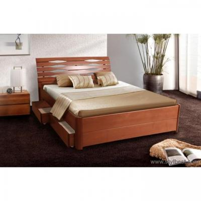 Ліжко Мікс Меблі Марія-Люкс з ящиками (бук, щит)