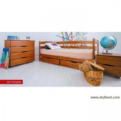 Кровать МиксМебель Ева светлый орех