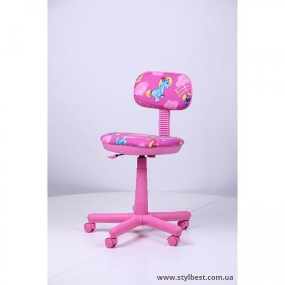 Детское компьютерное кресло Свити сиреневый Пони розовые