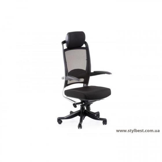 Кресло офисное FULKRUM BLACK FABRIC, BLACK MESH (E0611)