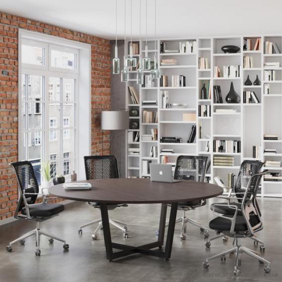 Круглий офісний стіл для переговорів D-2000