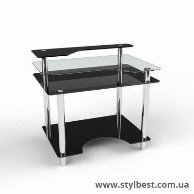 Скляний комп'ютерний стіл  Денвер