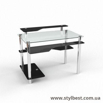 Скляний комп'ютерний стіл  Хардвік