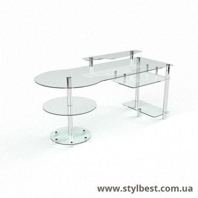 Скляний комп'ютерний стіл  Маріон