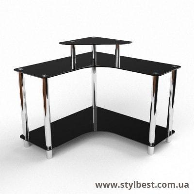 Скляний комп'ютерний стіл  Марко