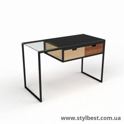 Стеклянный компьютерный стол  Ритм