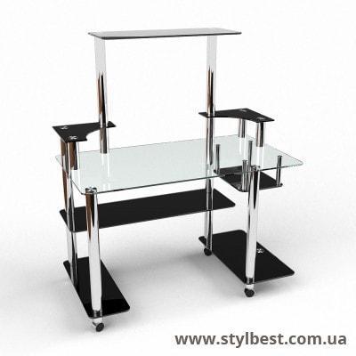 Стеклянный компьютерный стол  Фокус