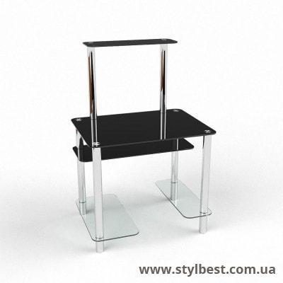 Скляний комп'ютерний стіл  Дельта