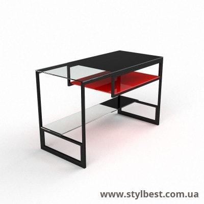 Скляний комп'ютерний стіл Мустанг