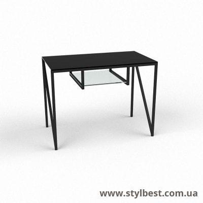 Скляний комп'ютерний стіл Лорен