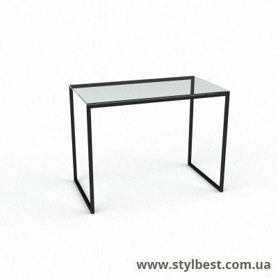 Скляний комп'ютерний стіл Честер