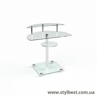 Скляний комп'ютерний стіл Оскар
