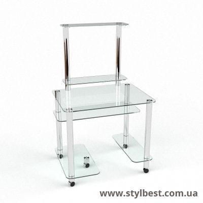 Скляний комп'ютерний стіл Люкс