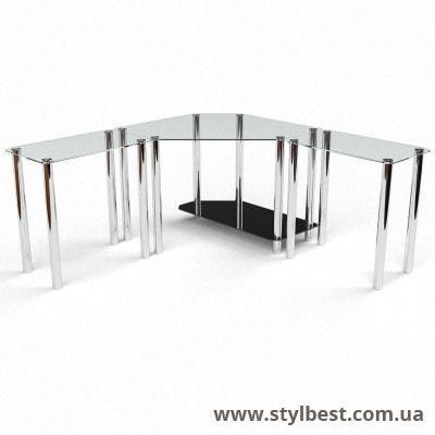 Скляний комп'ютерний стіл Кредо