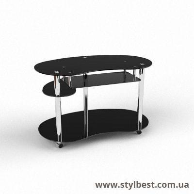 Скляний комп'ютерний стіл Рассел