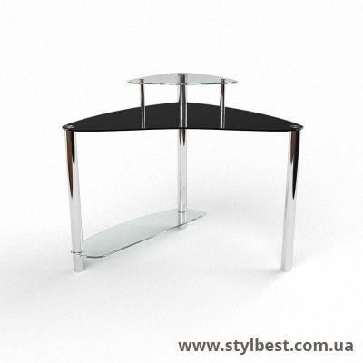 Скляний комп'ютерний стіл Валенсія
