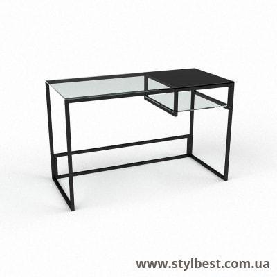 Скляний комп'ютерний стіл Інді