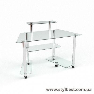 Скляний комп'ютерний стіл Аватар