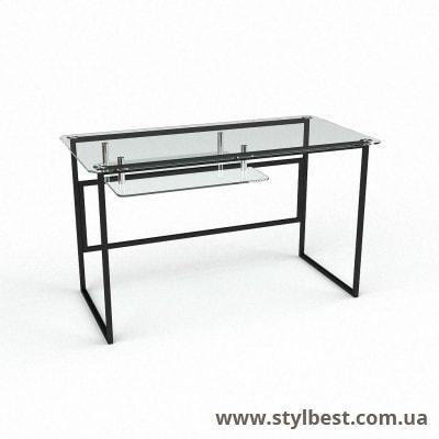 Скляний комп'ютерний стіл Твінс