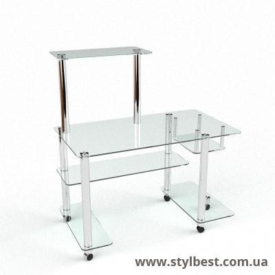 Стеклянный компьютерный стол Феникс