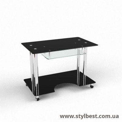 Стеклянный компьютерный стол Саванна
