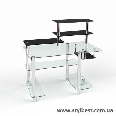 Стеклянный компьютерный стол Дебют