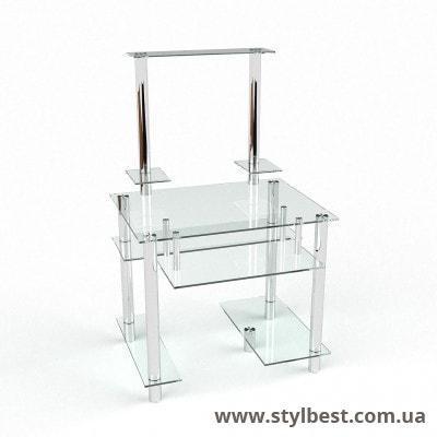 Стеклянный компьютерный стол Рондо