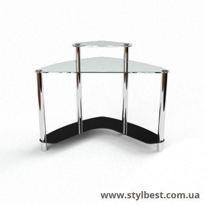 Скляний комп'ютерний стіл Софт