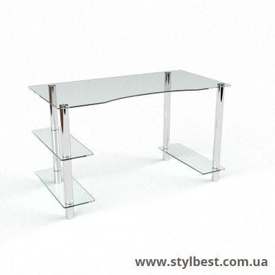 Скляний комп'ютерний стіл Камілла