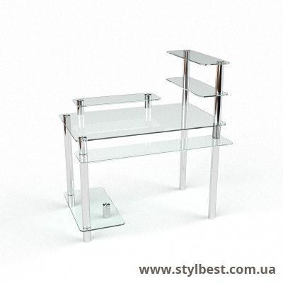 Стеклянный компьютерный стол Гиперион