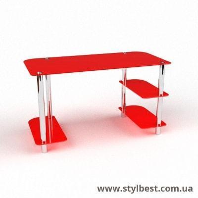 Скляний комп'ютерний стіл Альтаір