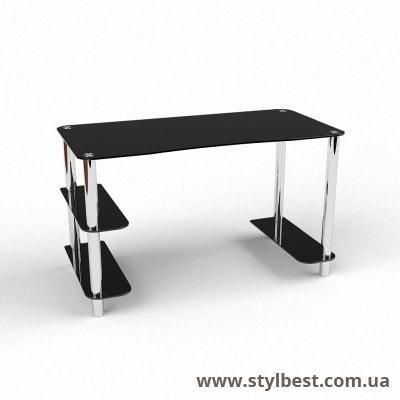 Скляний комп'ютерний стіл Магістр