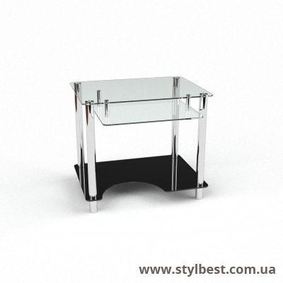 Стеклянный компьютерный стол  Ровесник