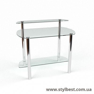 Стеклянный компьютерный стол Эфир
